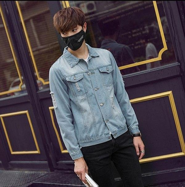 Мужская легкая джинсовая курточка с лого супермена