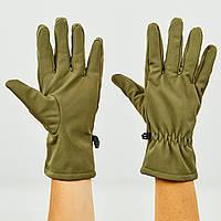 Перчатки для охоты, рыбалки и туризма теплые флисовые TY-0354-O (флис, полиэстер, закрытые пальцы, р-р M-XL, оливковый)