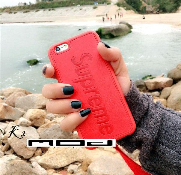 Кожаный чехол Supreme для Iphone 6/6S, 6+, 7/7S, 7+, 8/8S, 8+, X