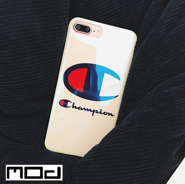 Глянцевый чехол Champion для Iphone 6/6S, 6+, 7/7S, 7+, 8/8S, 8+, X