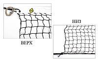 Сетка большой теннис Тренировочная UR SO-5310 (d-2,5мм, р-р 12,8x1,08м, ячейка 4,5см, метал. трос.)