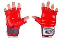 Перчатки боевые Full Contact с эластичным манжетом на липучке Кожа ELAST VL-01045 (р-р M-XL, цвета в ассортименте)