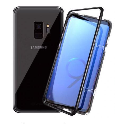 Магнитный чехол Full Glass 360 (Magnetic case) для Samsung Galaxy S9