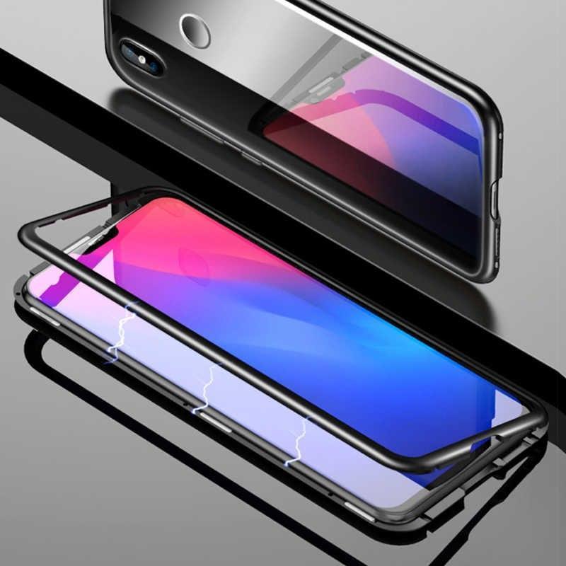 Магнитный чехол Full Glass 360 (Magnetic case) для Xiaomi Mi 8
