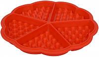 Силиконовая форма для выпечки вафель Сердце, фото 1