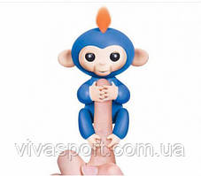 Электронная обезьянка на палец, голубой