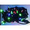 Гирлянда профессиональная светодиодная нить 100 LED 10м на черном проводе уличная цвет мульти, фото 3