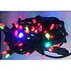Гирлянда профессиональная светодиодная нить 100 LED 10м на черном проводе уличная цвет мульти, фото 4