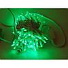 Гирлянда профессиональная светодиодная нить 100 LED 10м на белом проводе уличная цвет зеленый, фото 3