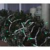 Гирлянда профессиональная светодиодная нить 100 LED 10м на белом проводе уличная цвет зеленый, фото 4