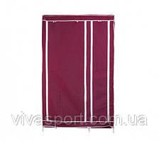 Портативный  шкаф-органайзер (2 секции), бордовый