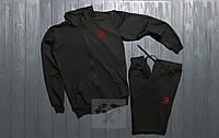 Зимний спортивный костюм , костюм на флисе Adidas черного цвета ,реплика