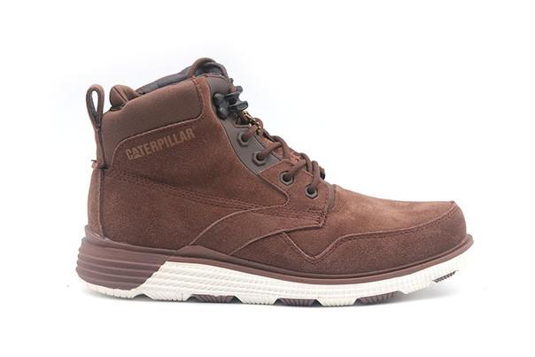 Высокие  мужские зимние ботинки кроссовки Caterpillar