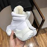 Модные массивные мужские зимние кроссовки с мехом на грубой подошве, фото 6