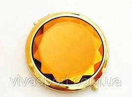 Двойное карманное зеркальце, оранжевый