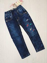 Джинсовые брюки для девочек на флисе, Венгрия, Grace, рр. 98, арт. 61132,
