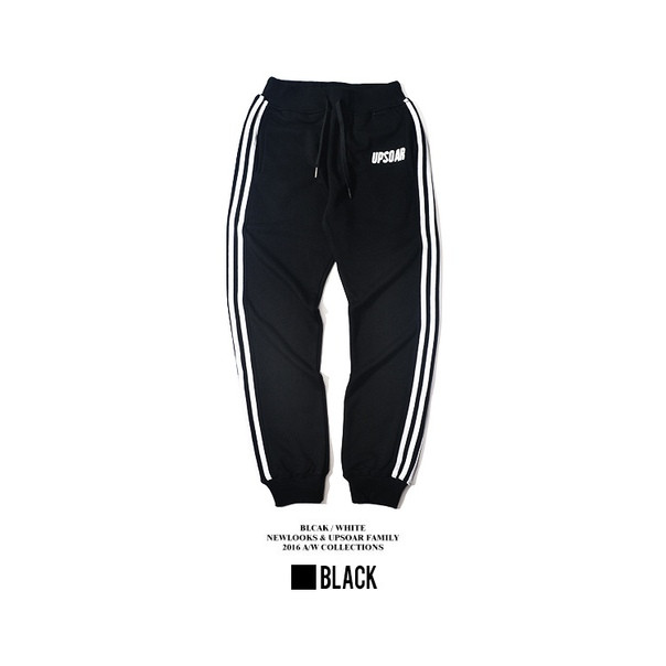 Черные штаны с белыми полосками UpSoar