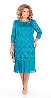 Сукня Pretty-956/1 білоруський трикотаж, бірюза, 56