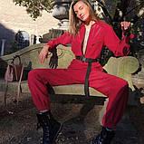 Женский сплошной красный комбинезон, фото 6