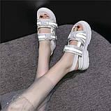 Женские сандали на массивной подошве с светодиодными элементами, фото 6