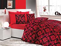 Постельное белье Hobby Poplin Avangarde красное Двуспальный евро комплект