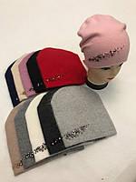 Женская шапка двойная ангора микс оптом