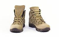 Ботинки тактические на мембране мужские женские кожаные 4д койот, фото 1