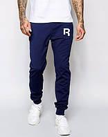 Теплые спортивные штаны, зимние штаны Reebok синий цвет, т. синие брюки Рибок, ф3535