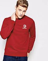 Теплая кофта, зимний свитшот Adidas/Адидас классик, красная, Л40
