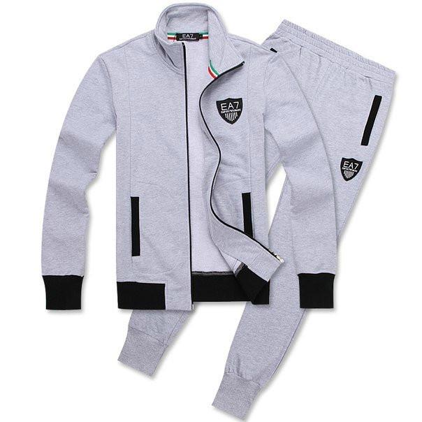 Зимний спортивный костюм, теплый костюм Armani, светло-серый костюм, с3006