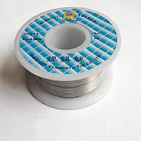 Припой для пайки оловянно-свинцовый Sn63/Pb37 0.8 мм с флюсом, 50г