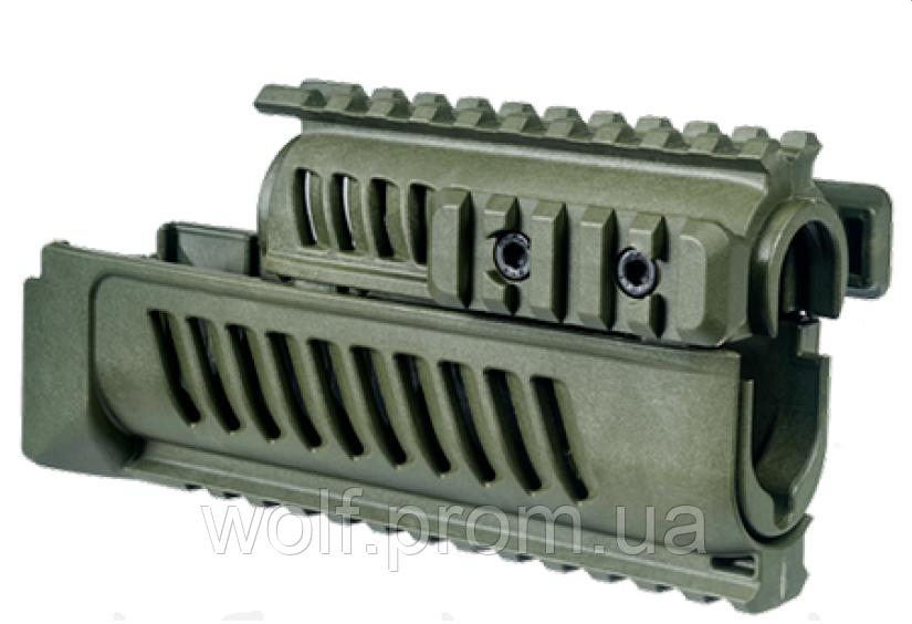 Цевьё тактическое с планками Пикатинни  Fab Defense для АК-47/АКМ/АК-74
