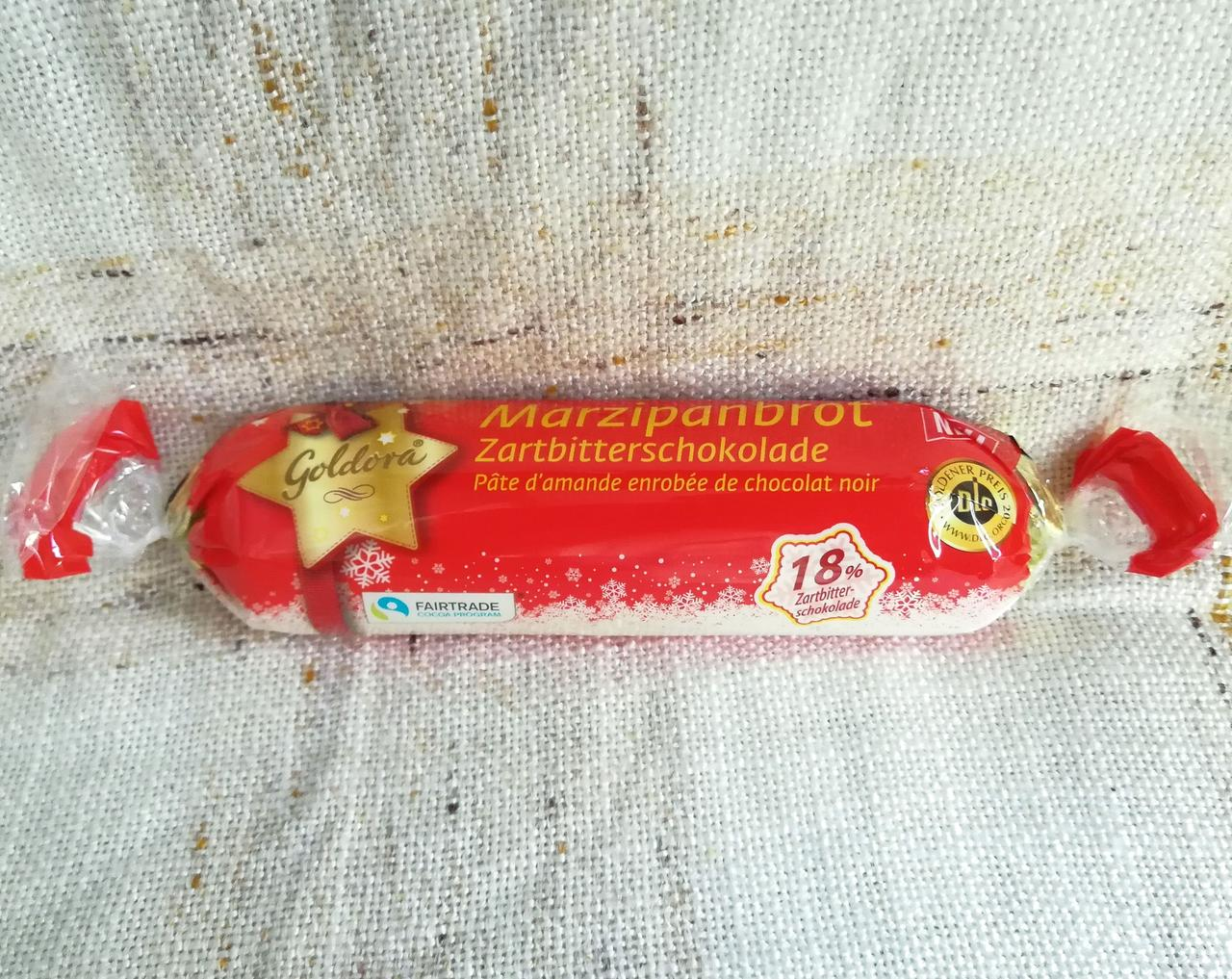 Goldora Marzipan 175 gramm - марципановый батончик в черном шоколаде