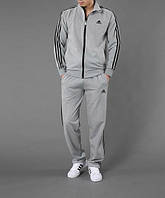 Зимний спортивный костюм, теплый костюм Adidas, серый костюм, с лампасами, с264