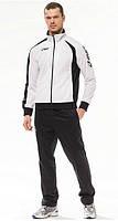 Зимний спортивный костюм, теплый костюм Asics, белый верх, черный низ, с3025