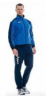 Зимний спортивный костюм, теплый костюм Asics, синяя кофта, темно-синие штаны, с3029