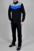 Зимний спортивный костюм , костюм на флисе Nike, черный с синими и белыми вставками, с3212