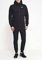 Зимний спортивный костюм , костюм на флисе Nike, черный со змейкой, с3231
