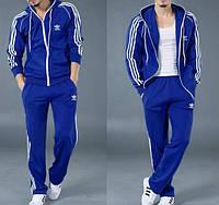 Зимний спортивный костюм, теплый костюм Adidas, синий костюм, с лампасами, с300