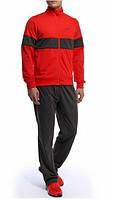 Зимний спортивный костюм, теплый костюм Nike, красный с черными штанами, с3160