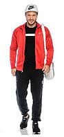 Зимний спортивный костюм, теплый костюм Nike, красный с черными штанами, с3162