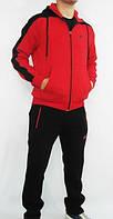 Зимний спортивный костюм, теплый костюм Nike, черные штаны, красная кофта, с3168