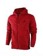 Зимний спортивный костюм, теплый костюм Jordan, красная кофта и черные штаны, с3309