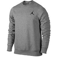 Зимний спортивный костюм, теплый костюм Jordan серый, логотип вышит, с3310
