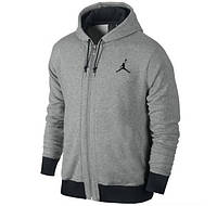 Зимний спортивный костюм, теплый костюм Jordan, серый, хлопковый, с3312