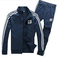 Зимний спортивный костюм, теплый костюм Adidas, темно-серый костюм, с лампасами, с335