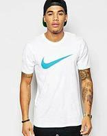 Мужская футболка Найк Белая, футболка Nike Белая, Турецкое качество; Код-0749097