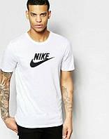 Мужская футболка Найк Белая, футболка Nike Белая, Турецкое качество; Код-0749113