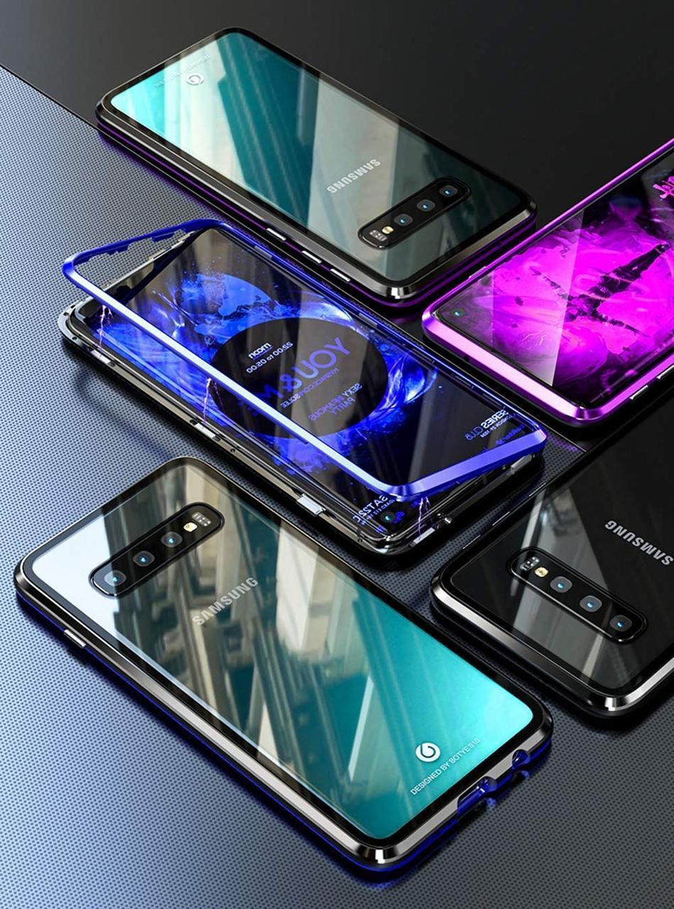 Магнитный чехол Full Glass 360 (Magnetic case) для Samsung Galaxy S10