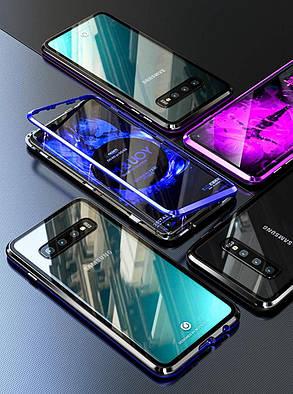 Магнитный чехол Full Glass 360 (Magnetic case) для Samsung Galaxy S10, фото 2